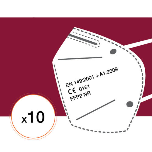 Lot de 10 Masques FFP2-NR95 (Fabrication Europe)