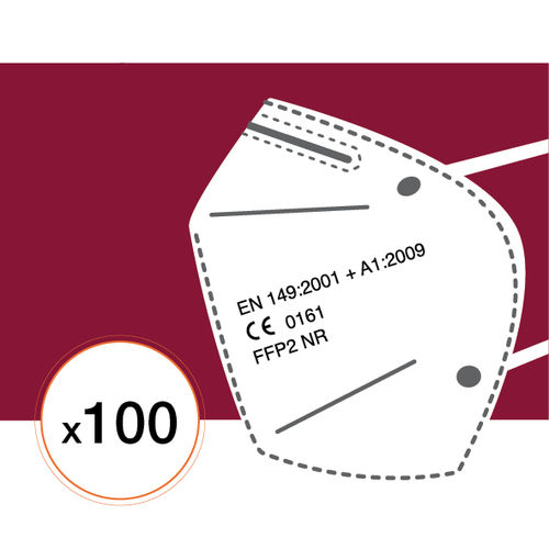 Lot de 100 Masques FFP2-NR95 (Fabrication Europe)